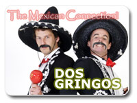 Dos Gringos, New Zealand Kiwi Mexican Character hosts and MCs, stand up comedy, corporate comedians.