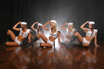 Dancing girls offering dance shows for theme parties based around pirates, maritime, sailors, beach parties. www.talentonline.com.au