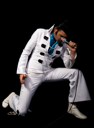 Elvis Impersonator Gabe, available for corporate functions and events. www.talentonline.com.au