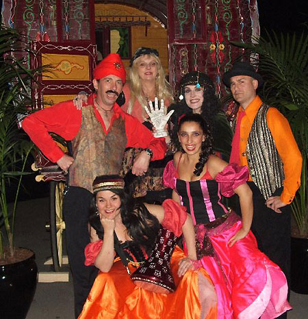 Gypsy fortune tellers, palm readers, crystal ball gazing or gazers, tarot card readers and psychics. Roving band of gypsies for corporate and private parties and themed events, Sydney, Australia. http://www.talentonline.com.au/database/gypsy-fortune-tellers-sydney.html